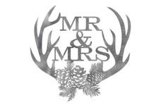 Mr & Mrs Antlers Wall Art