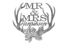 Mr & Mrs Wall Art