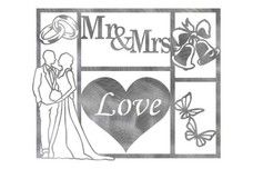 Mr & Mrs Wall Art