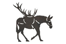 Mule with Antlers DXF File