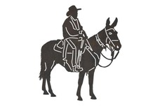 Cowboy Riding Mule DXF File