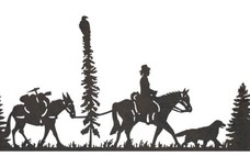 Mule Train DXF File
