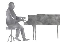 Piano Playing Musician Silhouette DXF File