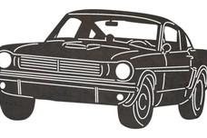 Vintage Mustang Car DXF File