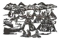 Native American Village Wall Art