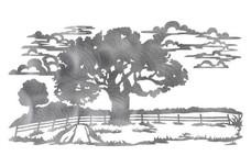 Field Oak Tree DXF File