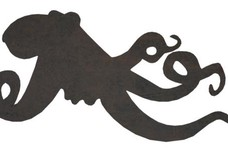 Octopus Silhouette DXF File
