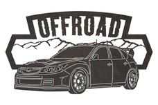 Off-road Race Car Sign