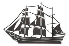 Old Ship Side-Profile DXF File