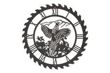 Pheasant Sawblade Clock