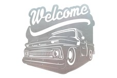 Pickup Welcome Sign