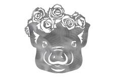 Pig Wearing Crown DXF File