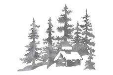Pine Trees & Cabin DXF File