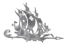 Pirate Ship & Dolphins DXF File