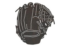 Classic Pitcher's Glove DXF File
