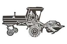 Plough Tractor Sideview DXF File