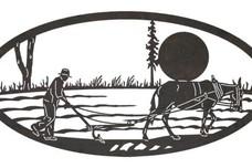 Plow Oval Art