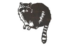 Tail Hanging Raccoon DXF File