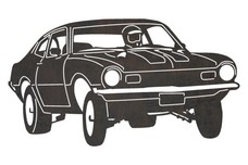 Vintage Race Car DXF File