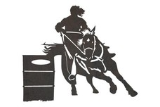 Girl Barrel Racing DXF File