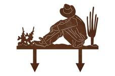 Resting Cowboy Yard Stake