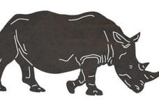 Walking Rhinoceros DXF File