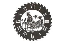 Rooster Sawblade Clock