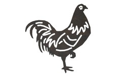 Rooster on One-Leg DXF File