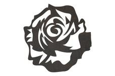 Rose Close-Up DXF File