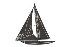 Classic Sailboat DXF File