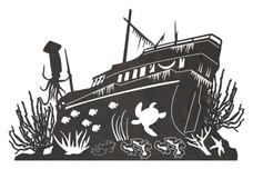 Shipwreck Underwater DXF File