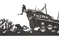 Underwater Shipwreck DXF File
