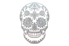 Decorative Human Skull DXF File