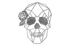 Rose Skull Wall Art