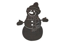Smiling Snowman DXF File