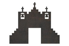 Spanish Mission Silhouette DXF File
