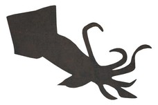 Squid Silhouette DXF File
