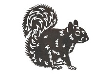 Squirrel Side View DXF File