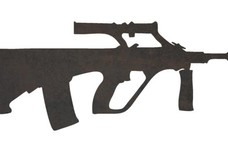 Steyr Aug Assault Rifle DXF File