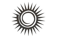 Stylized Sun DXF File