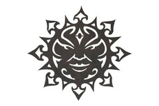Sun Face DXF File