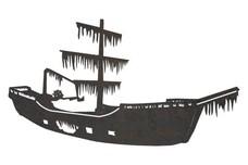 Shipwreck W/Algae Side-Profile DXF File