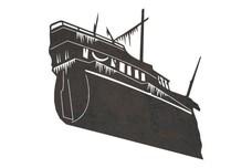 Sunken Ship W/Algae DXF File