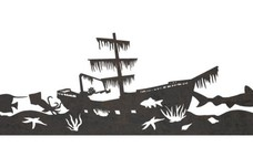Sunken Ship Wide-angle View DXF File
