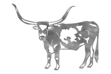 Single Texas Longhorn DXF File