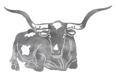 Resting Texas Longhorn DXF File