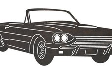 Vintage Thunderbird Convertible DXF File