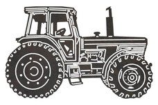 Tractor Side View DXF File