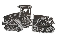 Crawler Tractor DXF File