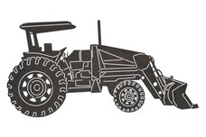 Utility Loader Tractor DXF File